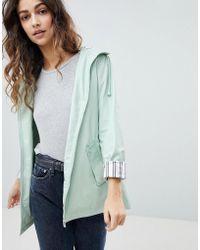 Miss Selfridge | Striped Cuff Raincoat | Lyst