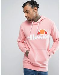 Ellesse - Hoodie With Classic Logo In Pink - Lyst