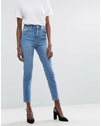 ASOS - Design Farleigh High Waist Slim Mom Jeans In Prince Wash - Lyst