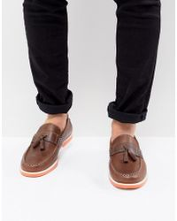 KG by Kurt Geiger - Kg By Kurt Geiger Tassel Boat Shoes In Brown - Lyst