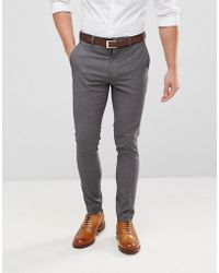 Only & Sons | Skinny Suit Trouser | Lyst