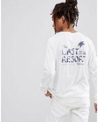 Volcom - Long Sleeve T-shirt With Resort Back Print - Lyst