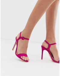 Lipsy - Barely There With Buckle Detail In Raspberry - Lyst