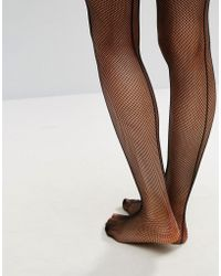 Ann Summers - Micro Fishnet Seamed Hold Ups - Lyst