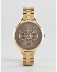 BOSS - 1502422 Symphony Chronograph Bracelet Watch In Gold - Lyst