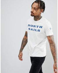 North Sails - Logo T-shirt In White - Lyst