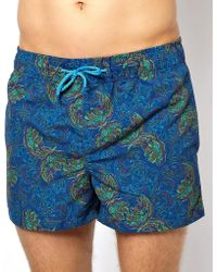Humor - Printed Swim Shorts - Lyst