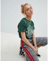 Daisy Street - T-shirt With Atlanta Print - Lyst