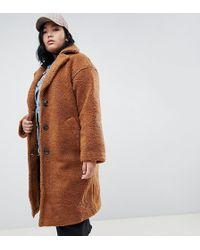 ASOS - Asos Design Curve Teddy Coat - Lyst