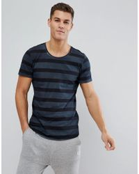 Jack & Jones - Originals T-shirt With Stripe And Curved Hem - Lyst