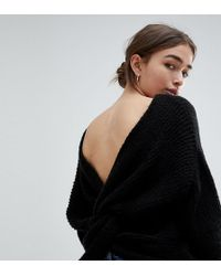 ASOS - Jumper With Twist Back - Lyst