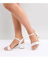 London Rebel - Bridal Mid Block Heeled Sandals - Lyst