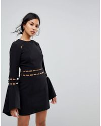 Finders Keepers - Finders Solar Fluted Sleeves Mini Dress - Lyst