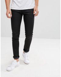 Lindbergh - Lindebergh Slim Fit 5 Pocket Stretch Jeans In Black - Lyst