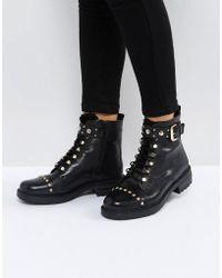 Carvela Kurt Geiger | Son Leather Lace Up Boots | Lyst