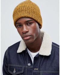 b2ae9d4c202 Asos Narrow Brim Shaker Hat In Charcoal Marl in Gray for Men - Lyst