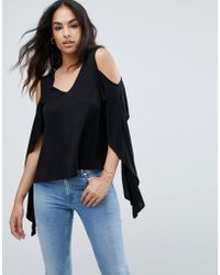 ASOS - Asos Top With Cold Shoulder And Dramatic Ruffle - Lyst