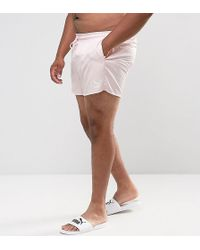 PUMA | Plus Retro Swim Shorts In Pink Exclusive To Asos 57659601 | Lyst