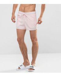 PUMA - Retro Swim Shorts In Pink Exclusive To Asos 57659601 - Lyst