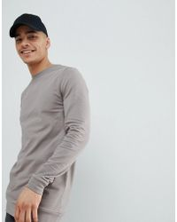 ASOS DESIGN - Asos Longline Muscle Sweatshirt In Gray - Lyst