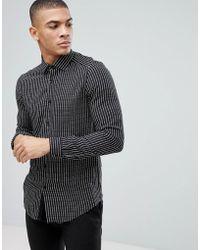 Reiss - Printed Polka Dot Stripe Shirt - Lyst