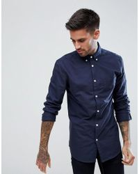 New Look - Oxford Shirt In Navy - Lyst