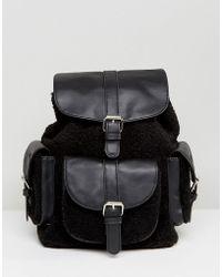 Glamorous - Shealring Pocket Detail Backpack In Black - Lyst
