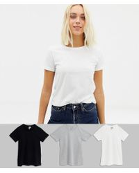 ASOS - Ultimate T-shirt With Crew Neck In 3 Pack Save - Lyst