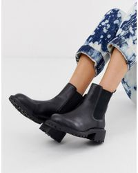 ASOS - Action Chunky Chelsea Boots In Black - Lyst
