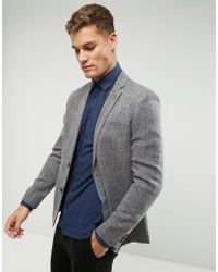 Farah - Skinny Textured Blazer - Lyst
