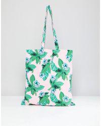 Monki - Floral Tote Bag - Lyst