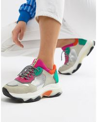Bronx - Multi Brights Metallic Suede Chunky Trainers - Lyst