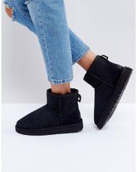 UGG - Classic Mini Ii Black Boots - Lyst