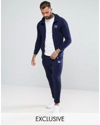 PUMA - Skinny Fit Tracksuit Set In Navy Exclusive To Asos - Lyst