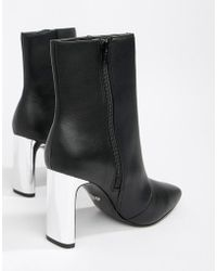 Faith - Betty Slim Heel High Rise Ankle Boots In Black - Lyst