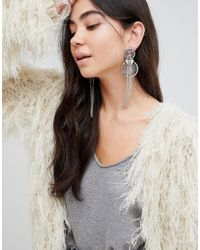 ASOS - Design Statement Rope Style Chain Tassel Earrings - Lyst