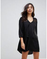 Vero Moda - Embroidered Tunic Dress - Lyst