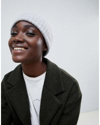 SELECTED - Femme Knitted Rib Hat - Lyst