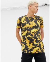 Criminal Damage - T-shirt In Black With Baroque Print - Lyst