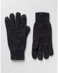 SELECTED Gloves In Wool - Gray