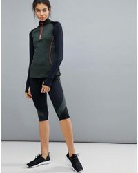 ELLE Sport - S Mesh Panel Capri Leggings - Lyst
