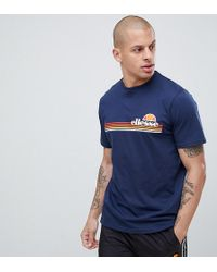 0454246f Ellesse Lounge T-shirt With Small Logo In Gray in Gray for Men - Lyst