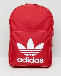 adidas Originals - Large Trefoil Logo Backpack In Red Dq3157 - Lyst 8adad8af3c494