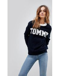 Tommy Hilfiger - Logo Knitted Jumper - Lyst