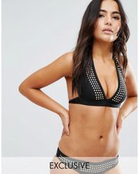 Wolf & Whistle - Studded Bikini Top A-f Cup - Lyst