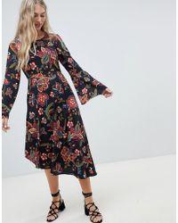Vero Moda - Floral Asymmetric Hem Dress - Lyst