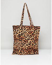Monki - Leopard Print Tote Bag - Lyst