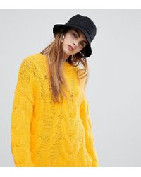 Bershka Oversized Cable Jumper In Yellow