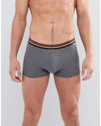Paul Smith | Stripe Waistband Trunks In Dark Grey | Lyst