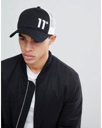 11 Degrees - Trucker Cap In Black - Lyst